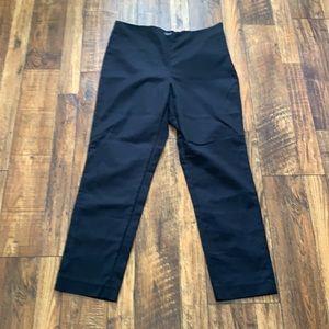Vince Camuto black side zip cropped pants 10